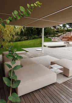 Outdoor Furniture, Outdoor Decor, Sun Lounger, Ottoman, Home Decor, Garden Architecture, Nature, Homes, Chaise Longue