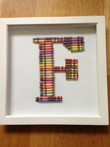 Crayola framed letter - great for children's bedroom wall - www.pressiesbypebbles.com