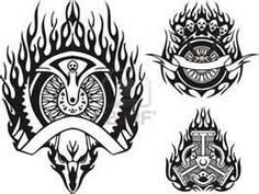 Tribal Racing Flame Free Vector Vinyl Ready Clip Art Tattoo