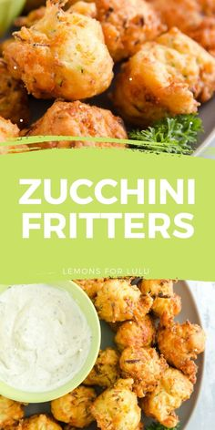 Do you have an abundance of garden zucchini? Zucchini fritters make a great appetizer or snack! These crips nuggets are best served warm with a dipping sauce on the side. Fritters are easy and fun to eat and make a great way to use up summer's best vegetables! Side Dishes Easy, Side Dish Recipes, Veggie Recipes, Lunch Recipes, Great Appetizers, Easy Appetizer Recipes, Party Appetizers, Zucchini Fritters, Supper Recipes