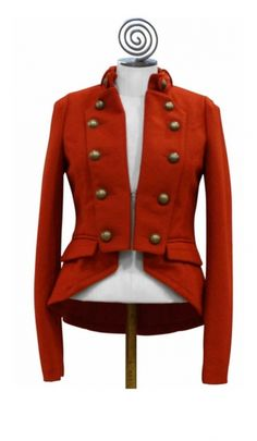 admiral's jacket #red #military #jacket