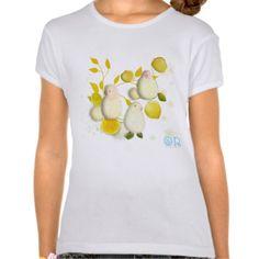 Birds and Lemons illustration shirt