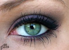 lilac and grey eye makeup... love this! and I have green eyes, so maybe I could make it work!