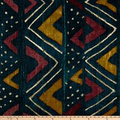 P Kaufmann Mali Mudcloth Fabric, Calypso, Fabric By The Yard African Textiles, African Fabric, African Patterns, African Design, African Art, African Prints, African Style, African Women, African Home Decor