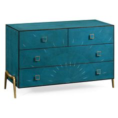 Dresser Zena Chest of Drawers Teal Dressers (€3.380) ❤ liked on Polyvore featuring home, furniture, storage & shelves, dressers, teal furniture, storage furniture, storage dresser and display furniture