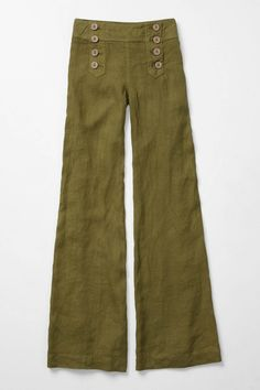 Anthropologie trousers with sailor type double buttoning at the front