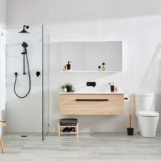 Find Cibo Design Veneer Oslo Wall Hung Vanity at Bunnings Warehouse. Visit your local store for the widest range of bathroom & plumbing products. Simple Bathroom Designs, Modern Bathroom Decor, Rustic Bathrooms, Bathroom Styling, Bathroom Interior Design, Decor Interior Design, Small Bathroom, Bathroom Black, Industrial Bathroom