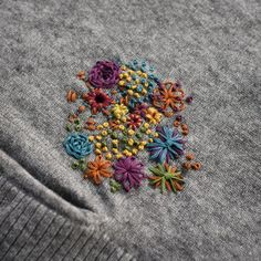 Wonderful Choose the Right Fabric for Your Sewing Project Ideas. Amazing Choose the Right Fabric for Your Sewing Project Ideas. Hand Embroidery Stitches, Cross Stitch Embroidery, Embroidery Patterns, Sweater Embroidery, Embroidery Patches, Flower Embroidery, Machine Embroidery, Sewing Hacks, Sewing Crafts