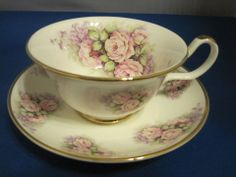 ROSE ROMANCE TEA CUP SAUCER by SHELTONIAN CHINA fine bone china Made in England