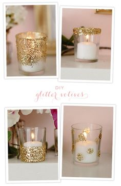Simple ways to glam up your table setting  we could do this very easily and not expensive - some bling to the tables!