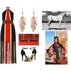"""Native American evening look"" by raffaellaclausi on Polyvore"