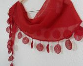 ON SALE Special Fashion Lace Shawl /Scarf with Lace Trimming combines together $12.00 USD $10.80 USD likeknitting