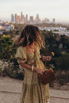 A Day in LA with Sara Escudero from ~ Spell The Gypsy Collective Fashion 90s, Look Fashion, Fashion Outfits, Hippie Fashion, Italy Fashion, Woman Outfits, Fashion Design, Mode Hippie, Hippie Style