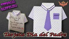 ♥ Tutorial: Tarjeta Camisa para el día del Padre de Cartulina ♥