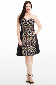 Plus Size Morocco Strapless Dress