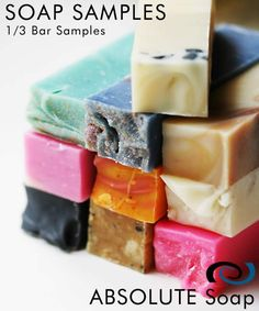 Absolute Soap - Handmade Soap Samples, $2.25 (http://www.absolutesoap.com/specials/handmade-soap-samples/)