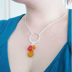 The Cinco de Mayo Necklace  Yellow and Pink Chalcedony by strut, $45.00