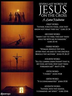 Last Words of Christ Jesus