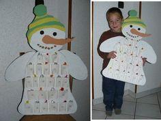 Calendrier de l'Avent Bonhomme de neige