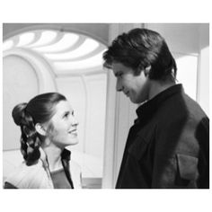 Harrison Ford and Carrie Fisher as Han Solo & Princess Leia from Star Wars: Episode V--The Empire Strikes Back (1980)