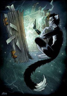 Magical cat and magical book by Candra.deviantart.com on @deviantART