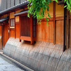 wooden house in gion higashiyama district kyoto japan