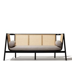 Industrial Design Portfolio, Industrial Design Furniture, Furniture Design, Accra, Cane Sofa, Wood Sample, Mid Century Modern Sofa, Rattan Furniture, Upholstered Sofa