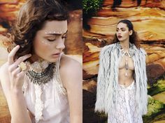 """Editorial Exclusive : """"Earth and Sea"""" : Sarah Tilleke (Viviens Model Management) by Aimee Stoddart for FE!"""
