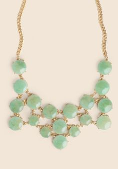 Jade Notions Jeweled Necklace at Neck Accessories, Cheap Accessories, Jewelry Accessories, Le Jade, Jade Green, Pearl Necklace, Beaded Necklace, Necklaces, Bridesmaid Accessories