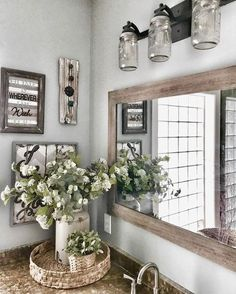 Master Bathroom Makeover Reveal- Farmhouse Style   Bless This Nest