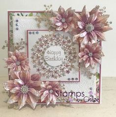 Dies by Chloe - Flower Circle Die - - Chloes Creative Cards Chloes Creative Cards, Stamps By Chloe, Crafters Companion Cards, Tattered Lace Cards, Craftwork Cards, Flower Circle, Hand Made Greeting Cards, Spellbinders Cards, Beautiful Handmade Cards