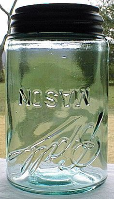 Ball - Mason Jar - printed upside down. Only about a dozen of these error jars are known to exist - Antique Fruit Jar Hall of Fame + information, pictures and lots of links to sites with background info on vintage jars - via Antique Bottles Antique Bottles, Vintage Bottles, Bottles And Jars, Antique Glass, Glass Jars, Milk Glass, Ball Canning Jars, Ball Mason Jars, Vintage Mason Jars