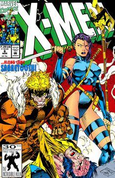 X-Men #6 cover art by Jim Lee.