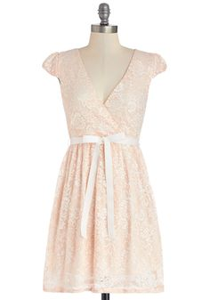 Poised in Peach Dress, #ModCloth if I could replace the white belt with a different one