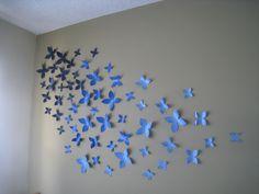 DIY toilet paper wallflower art