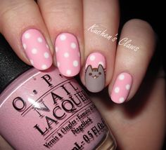 Opting for bright colours or intricate nail art isn't a must anymore. This year, nude nail designs are becoming a trend. Here are some nude nail designs. Kawaii Nail Art, Cat Nail Art, Cat Nails, Pink Nails, Nail Art For Kids, Easter Nail Art, Garra, Beautiful Nail Designs, Fabulous Nails