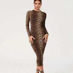 Leopard Dress, Leopard Clothes, Hash Tag, Festival Dress, Trends, Fall Dresses, Buy Dress, Bodycon Dress, Long Sleeve