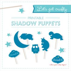Do you remember being a kid and trying to make hand shadow puppets? We decided to make it easier by designing our own shadow puppet printables! #Cloudb