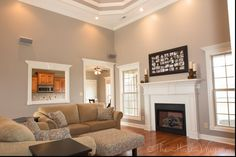 Image result for taupe accent wall