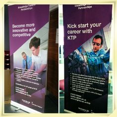 New pop up banners for the University of Brighton KTP scheme starring two of our Associates. #40yearsofKTP #KTP