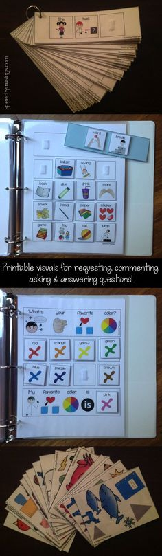 Speechy Musings: Save yourself some time! Check out my Interactive Visuals for Commenting, Asking, and Answering Questions! Pinned by NJD Speech Pathology, Speech Language Pathology, Speech And Language, Speech Therapy Activities, Language Activities, Play Therapy, Therapy Ideas, Autism Resources, Classroom Resources