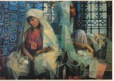 by Vicente Manansala Contemporary Artists, Modern Art, Filipino Art, Philippine Art, Filipiniana, National Art, Classic Paintings, New Artists, Philippines