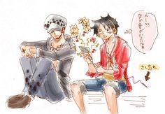 One Piece, Trafalgar Law, Monkey D. Luffy
