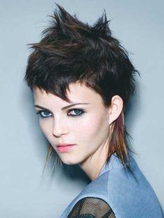 20 classy punk hairstyles for women. Top punk hairstyle for women. Different stunning punk hairstyles for women. Latest punk haircuts for women. Punk Haircut, Mullet Haircut, Mullet Hairstyle, Short Punk Hair, Girl Short Hair, Short Hair Cuts, Short Wavy, Hair Styles 2014, Medium Hair Styles