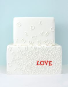 #weddingcake #letters