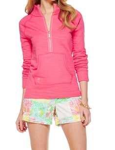 Lilly Pulitzer Skipper Popover Solid in Lipstick Pink