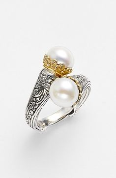 Konstantino 'Hermione' Pearl Coil Ring available at #Nordstrom