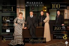 "The 100th show ~ It has recently come to our attention that our friends down south (and even some fellow Canadians) may be missing out on the wonderfulness that is Murdoch Mysteries. ~ 16 Reasons Everyone Should Be Watching ""Murdoch Mysteries"""