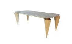 concrete table Copper table TABLE PIRYT DESIGN JAN GRAD / aluminum table/ modern table