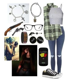 """""""Deanna Winchester #2"""" by riz-lane ❤ liked on Polyvore featuring moda, Topshop, Dylan, Glamorous, Converse, Joseph Marc, Revolver y superpokejackson"""
